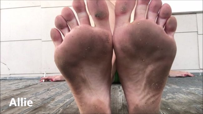 Allie - Dirty Foot Fetish POV