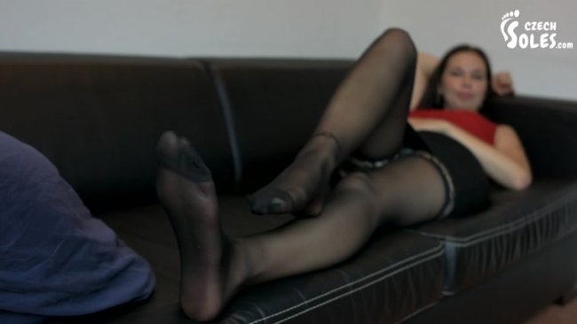 Czech Soles - Pantyhose Goddess Dita And Her Sexy Feet