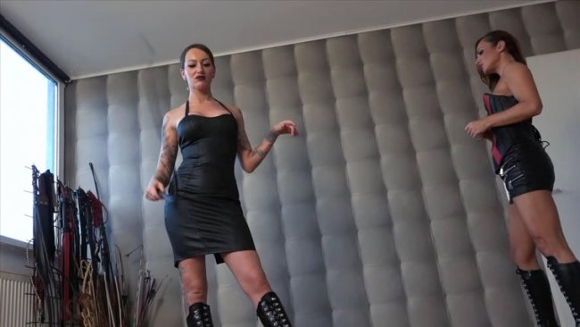 Mistress Medina, Lady Olga - Checking Bullwhips