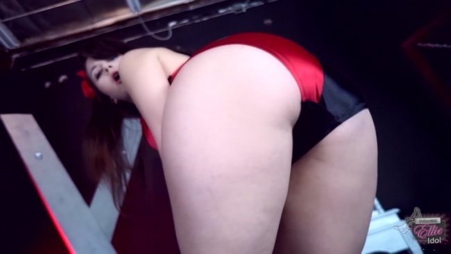 Princess Ellie Idol - BLACK AND RED SATIN PANTIES