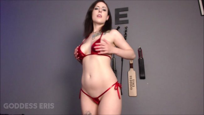 Goddess Eris - Shiny Red Bikini Worship