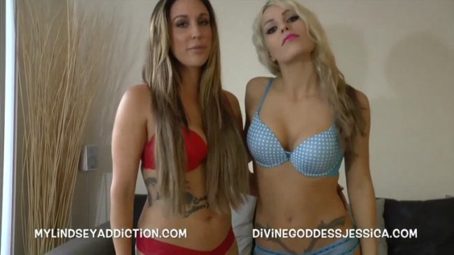Lindsey Leigh, Goddess Jessica - CUCKOLDED BY TWO WIVES