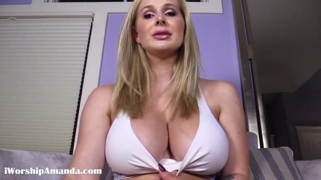 Goddess Amanda - Big Titty Tease with CEI