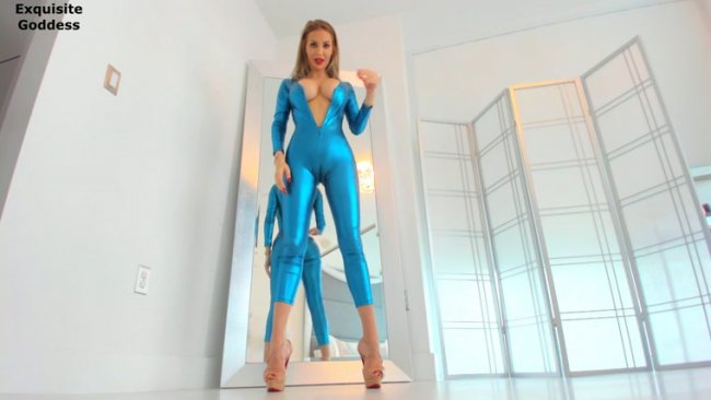 Exquisite Goddess - PAY PIGGY - Drained by the shiny catsuit