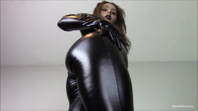 Miss Melissa - Worship My Shiny Catsuit Ass