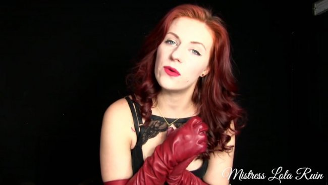 Mistress Lola Ruin - Red Leather Ruined Orgasm