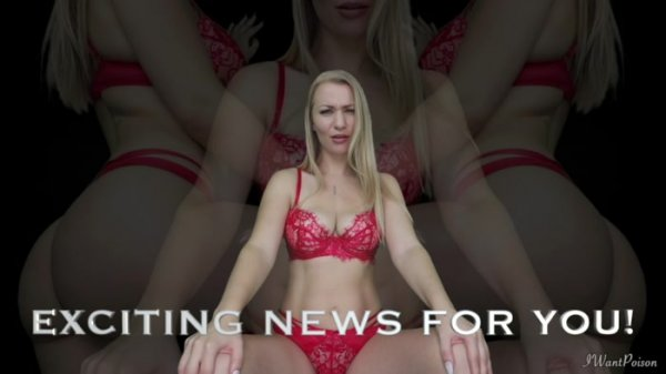 Goddess Poison - EXCITING COCK THROBBING ANNOUNCEMENT!!