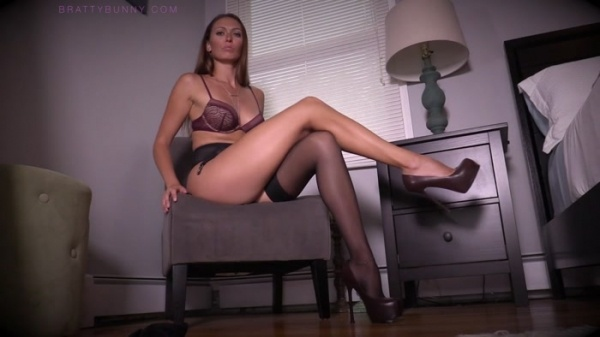 Bratty Bunny - Dangling Stockings Dropping High Heels