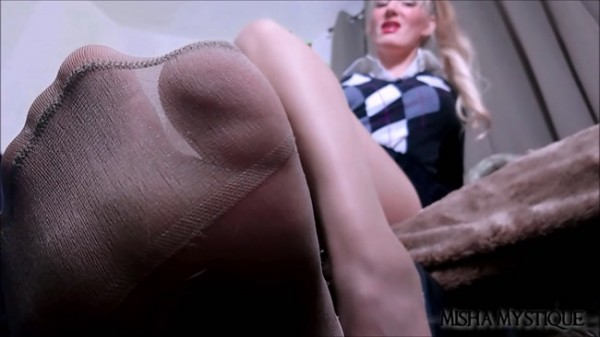 Misha Mystique - Detention: Teacher Pantyhose Femdom Joi Cei