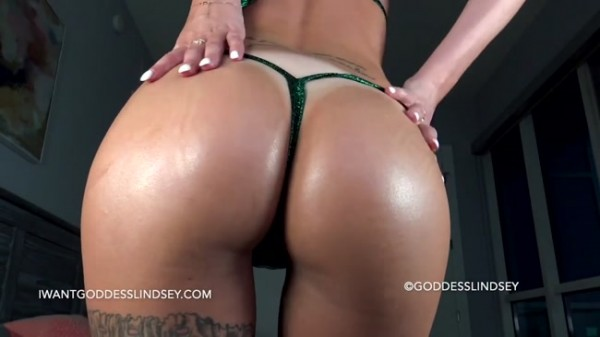 Goddess Lindsey - Oiled Up Shiny Bikini Denial