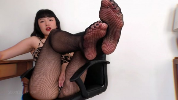 Goddess Heather - Findom Fishnet Footfreak