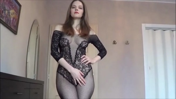 Beautiful lady Suzanne - Crotchless bodystocking