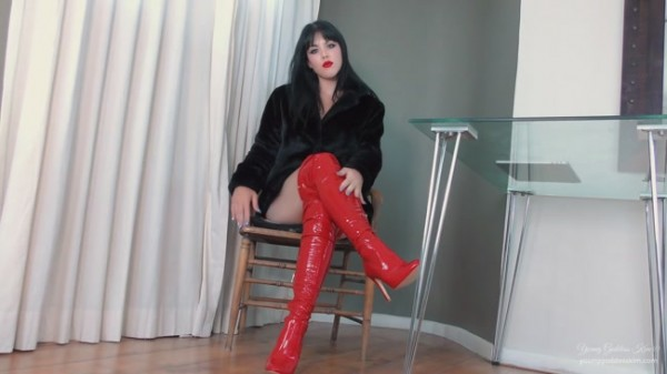 Young Goddess Kim - Boot Worship Jerk Off Instruction