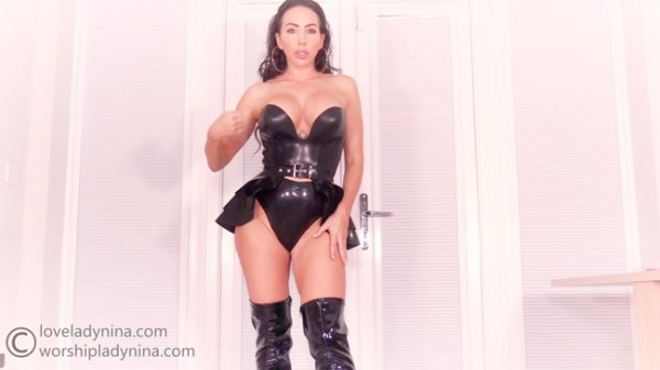 Lady Nina - Cheating on her with latex Goddess